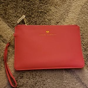 NWT Simply Southern Hot Pink Pouch
